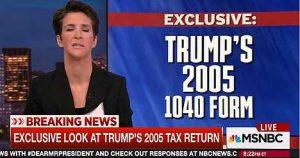 Rachel Maddow on Trump's 2005 taxes