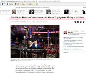 NY Times Online article of same topic, screen capture.