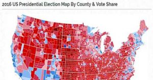 2016 Electoral College By Region and Vote Share