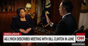 CNN interview of Lynch Meeting with B Clinton on Tarmac